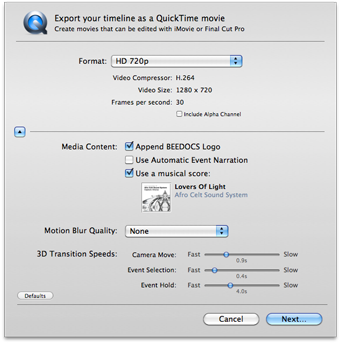 how to export transparent video final cut pro